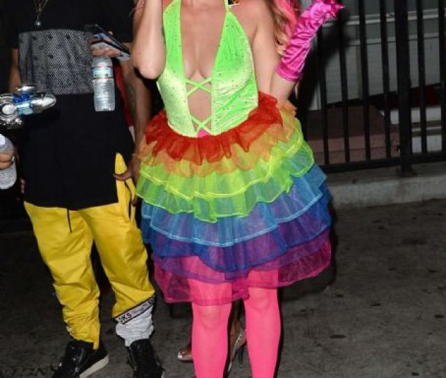 Chanel West Coast Leaving The Galore Magazine Halloween Party In West Hollywood