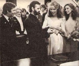 Ringo Starr and Barbara Bach at their wedding 1981