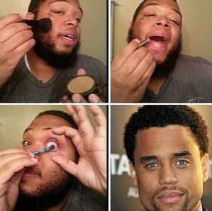 #MakeupTransformation: Twitter Users Use Makeup To Hilariously 'Transform' Into Celebs
