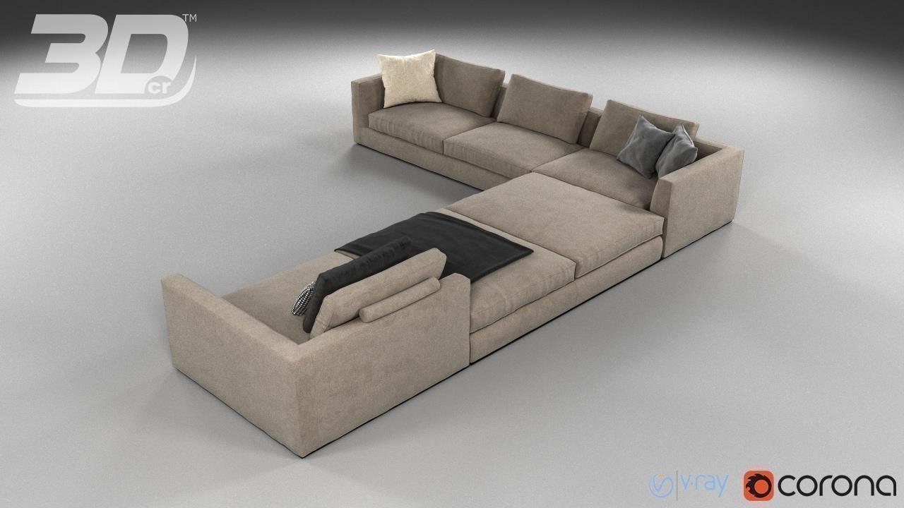 mega sofa friends cake topper collection 3d cgtrader model max obj mtl fbx 3
