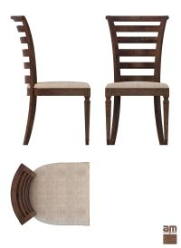 Round Table and Chair Set 3D Model MAX OBJ 3DS FBX ...