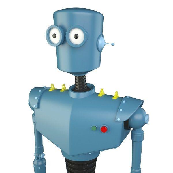 Cartoon Robot 3d Model Max Obj Fbx