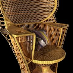 Fan Back Wicker Chair Ekornes Stressless Chairs Rattan Peacock Vin 3d Model Max