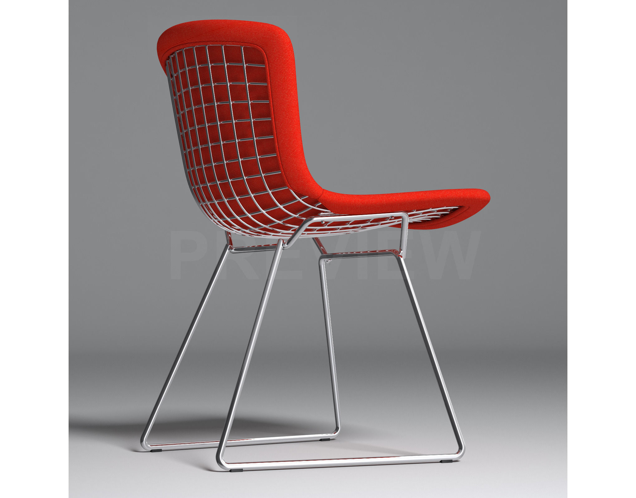 bertoia side chair hanging target with full cover knoll 3d model max obj mtl fbx