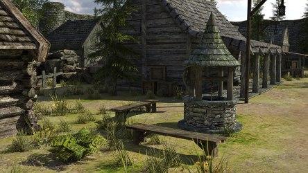 fantasy town medieval 3d low poly vr village models c4d obj fbx max ar cgtrader environment