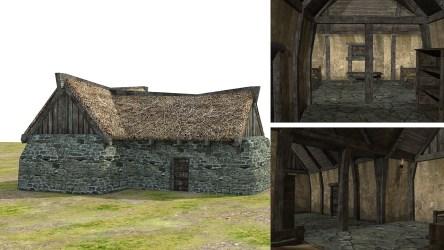 fantasy medieval town 3d low poly vr ar c4d fbx obj cgtrader max 4k