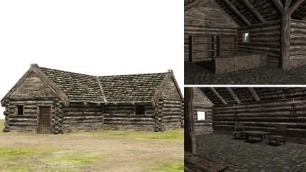 fantasy medieval town 3d low poly vr ar cgtrader fbx c4d obj max