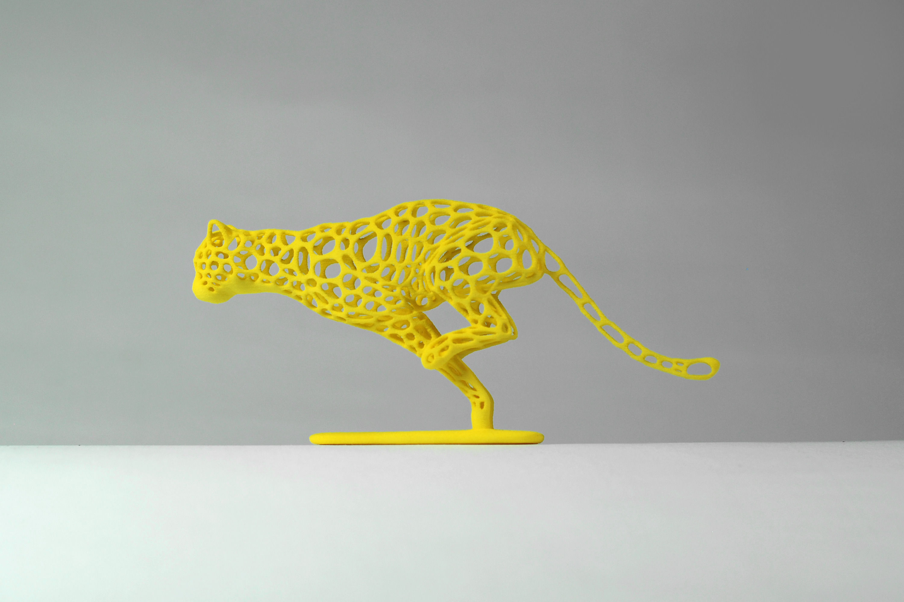 Cheetah Voronoi Wireframe 3d Model 3d Printable Stl