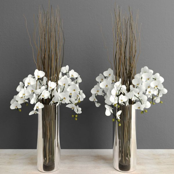 Tall Vase with Willow Branches