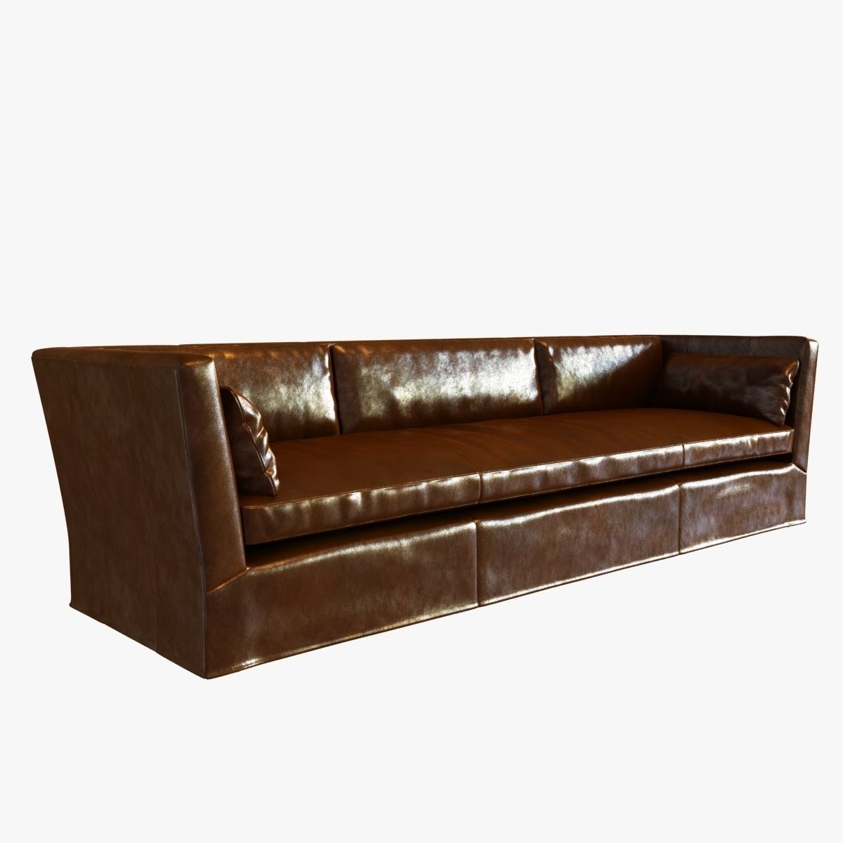 belgian shelter arm sofa charlotte black faux leather convertible sectional bed restoration hardware 3d