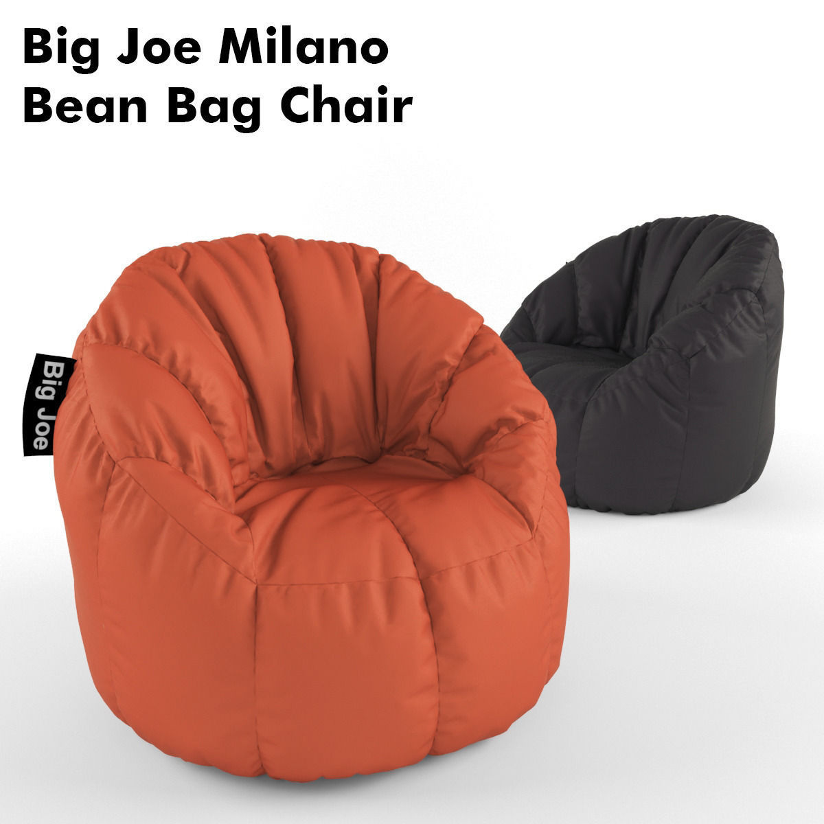 big joe milano bean bag chair chairs for babies 3d cgtrader model max fbx 1