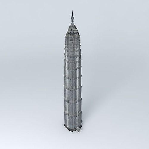 3D Jin Mao Tower Shanghai China CGTrader