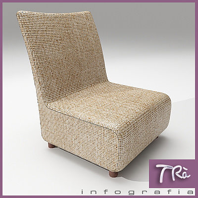 armless living room chairs interior design ideas for rooms uk 3d model upholstered chair cgtrader