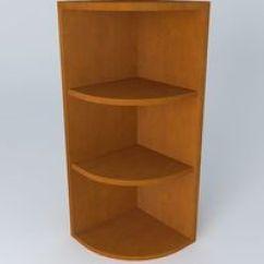 Kitchen Corner Shelves Brick Backsplash For Cabinet 3d Model Cgtrader Shelf