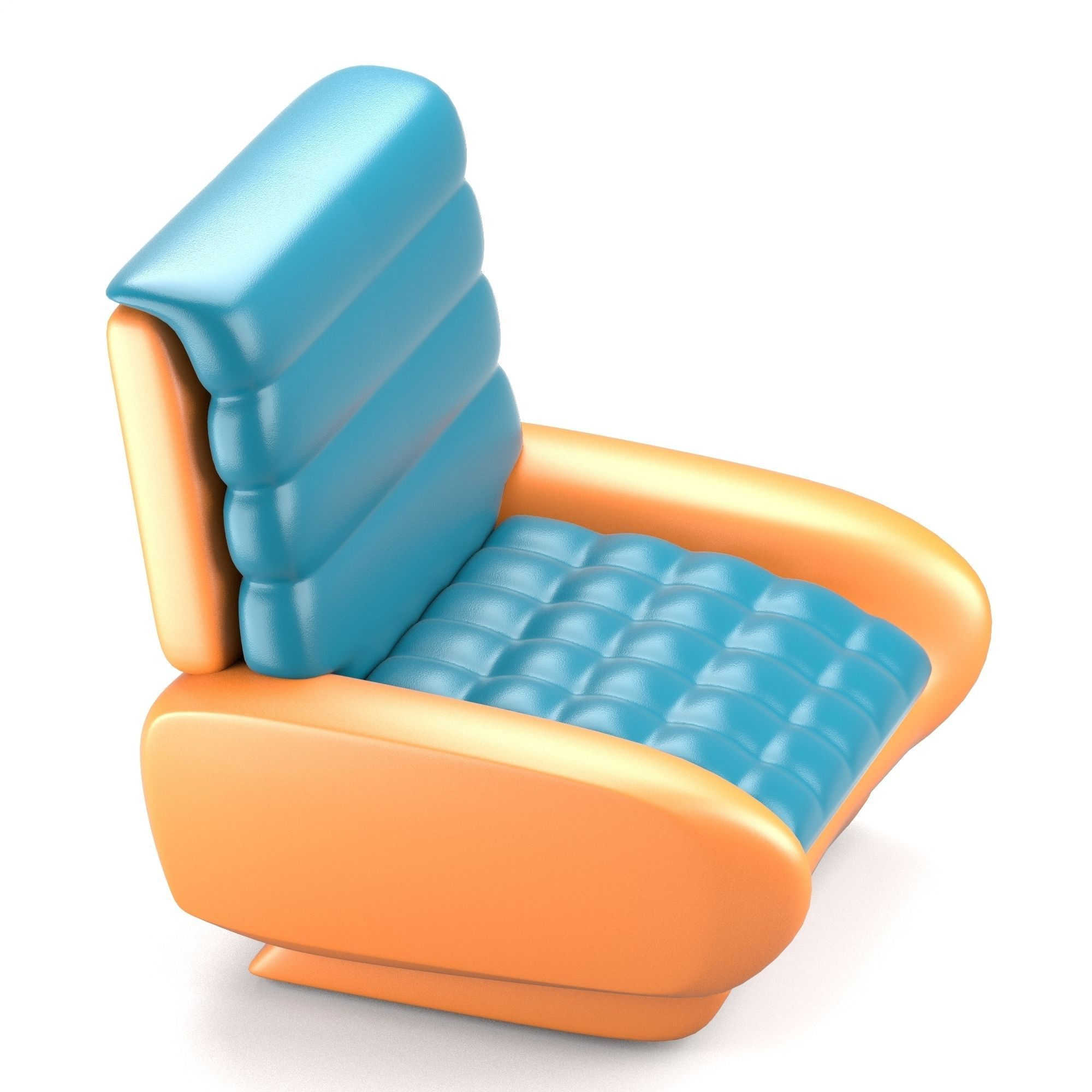 chair design model cradle rocking futuristic 3d obj fbx stl blend dae