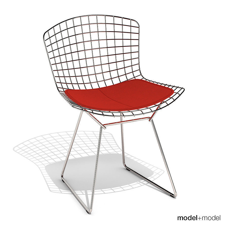 bertoia side chair hanging wood 3d model knoll cgtrader