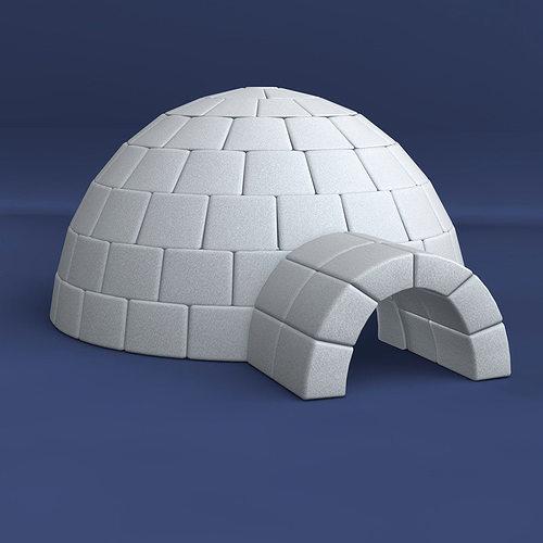 Igloo Winter 3D Model CGTrader