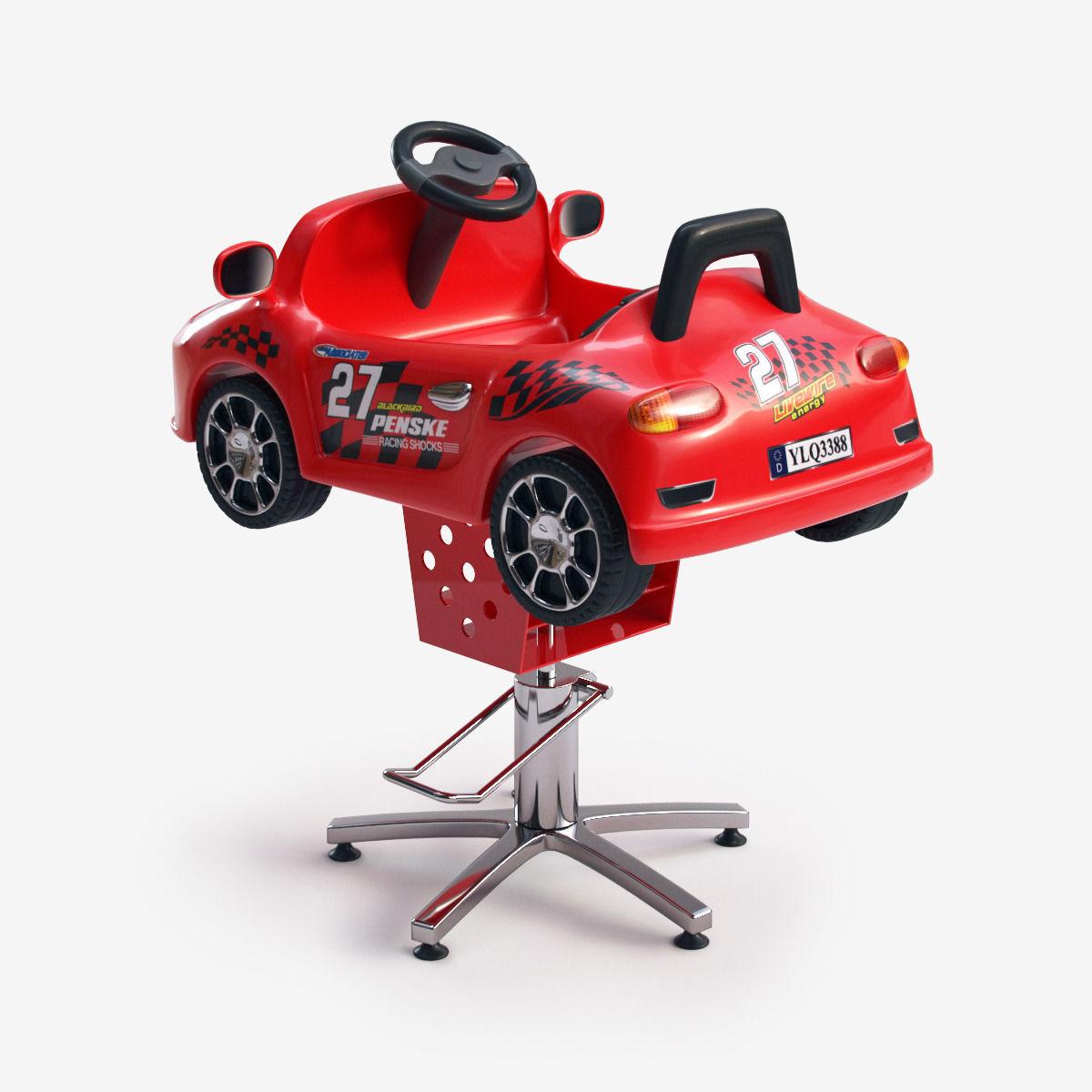 kids car barber chair swivel natuzzi 3d model children electric ride on vr