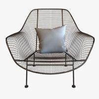 Mid-Century Sculptura Garden Lounge Chair by Woodard 3D ...