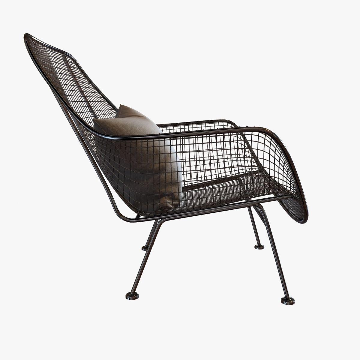 lounge chair outside chairs under 100 dollars mid century sculptura garden by woodard 3d model max obj mtl 3ds fbx