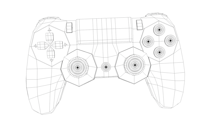 3D model Playstation 4 Console with Controller and Docking