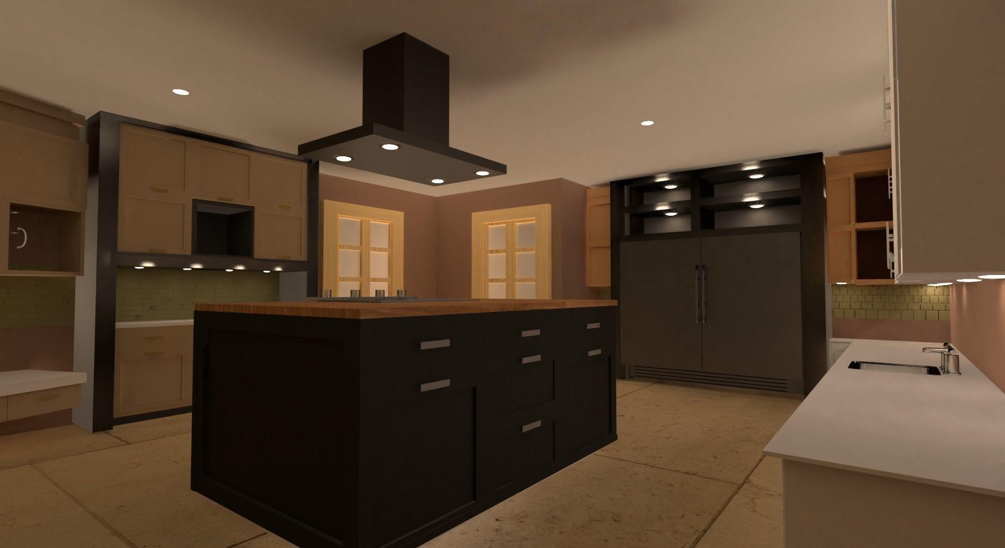 Kitchen 3d Model Obj