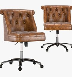 treviso tufted desk chair 3d model [ 1500 x 1500 Pixel ]