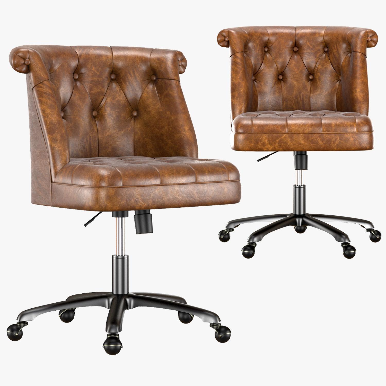 hight resolution of treviso tufted desk chair 3d model