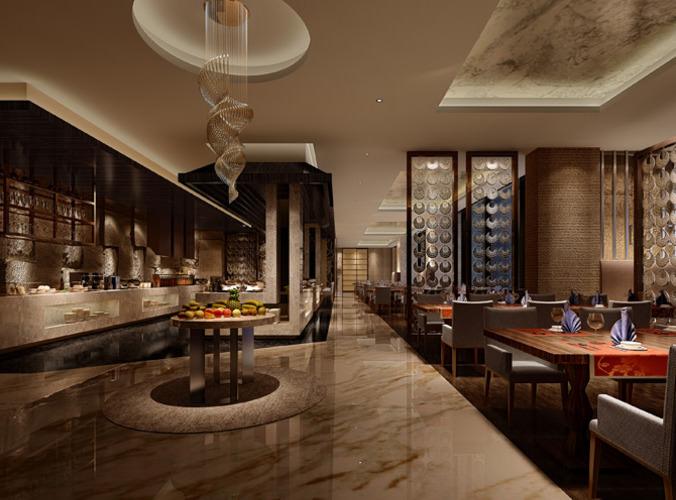 3D Restaurant interior  CGTrader