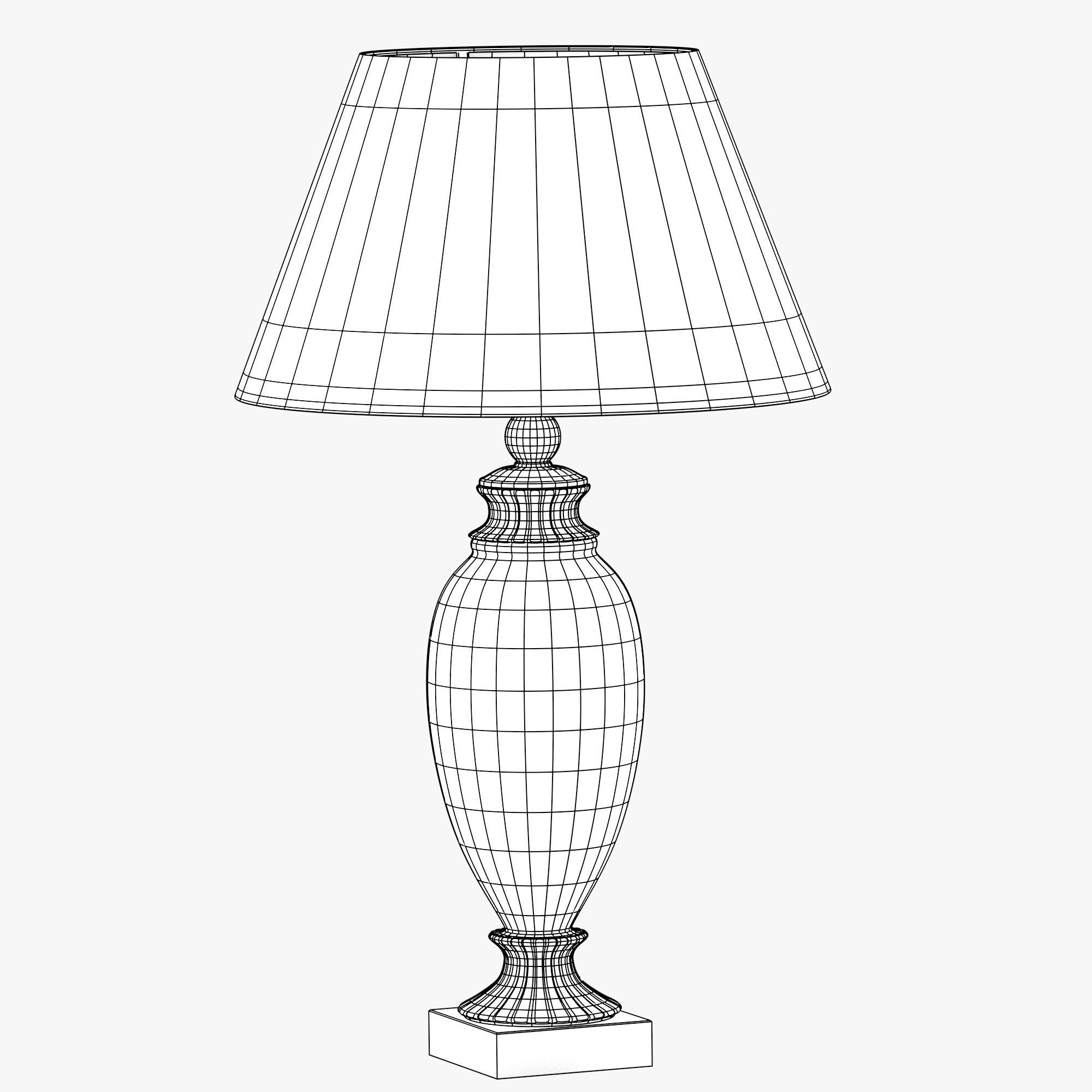 Old-style lamp with red dome 3D Model OBJ FBX STL BLEND
