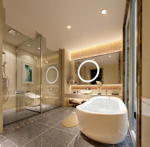 Luxurious bath room 3D model  CGTrader