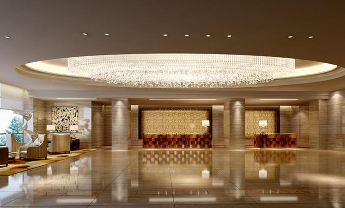 3D Spacious hotel reception  CGTrader