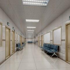 Lobby Chairs Waiting Room Wheelchair Door Width Hospital Interior 3d Model   Cgtrader