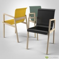 Hallway Chair 403 3D model | CGTrader