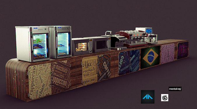 3D Coffee Shop Items  CGTrader