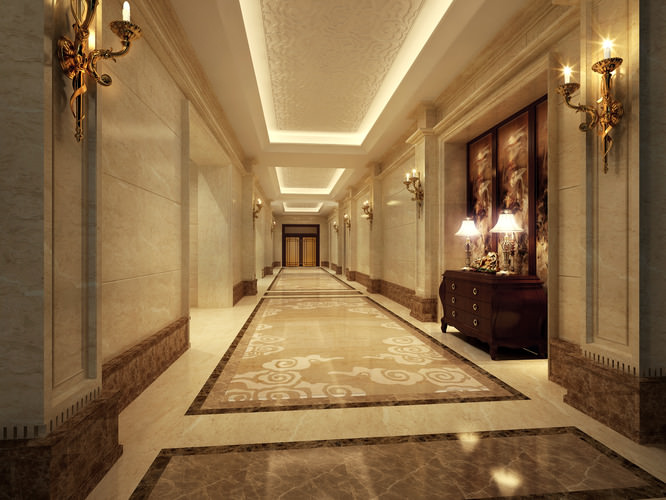 3D model Bright corridor  CGTrader