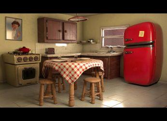 3D asset Cartoon Kitchen Layout CGTrader
