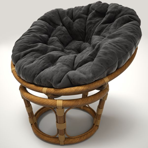 Rattan Chair Papasan 3d Model Max Obj