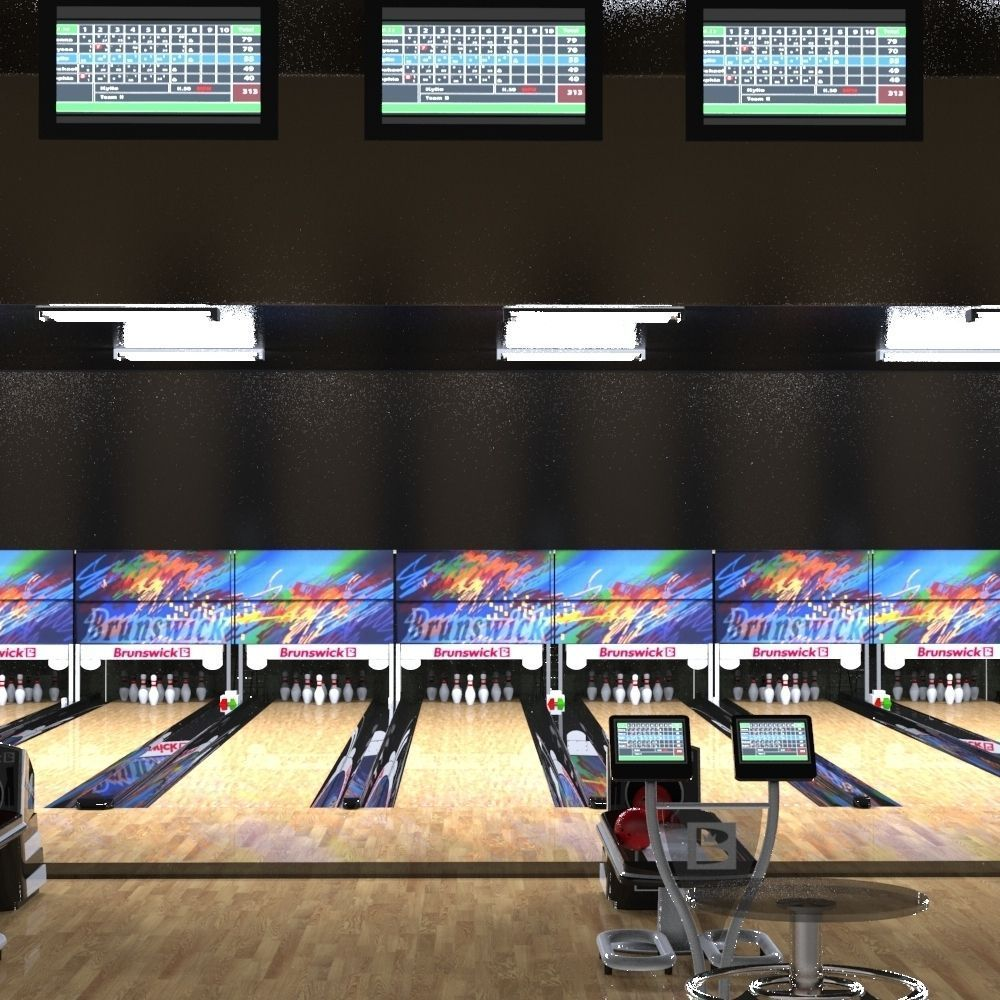hight resolution of  bowling alley 3d model fbx ma mb 3