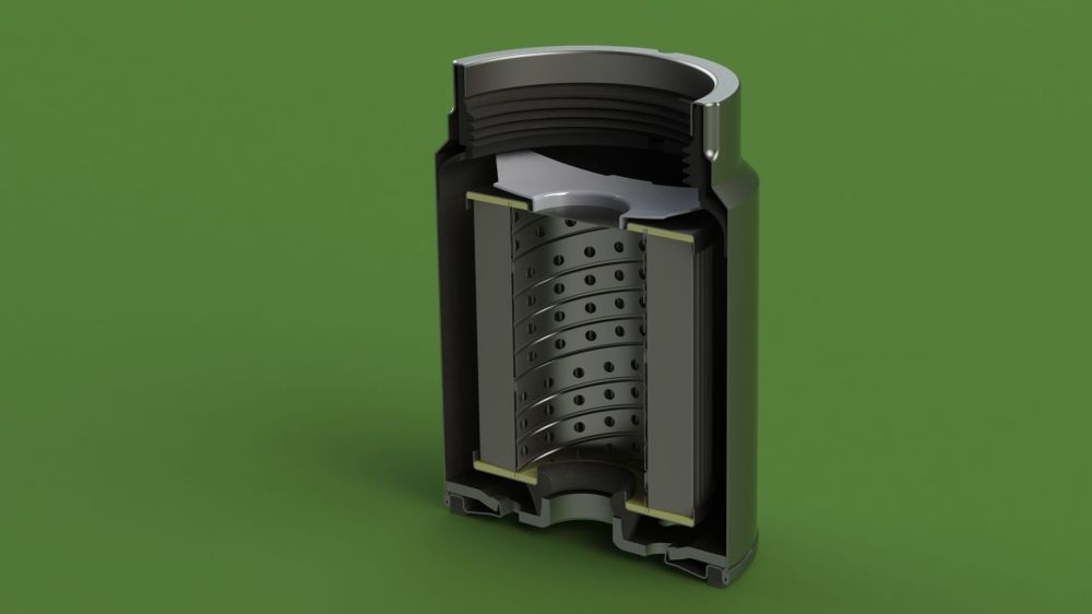 medium resolution of mann pl270 disel fuel filter 3d model