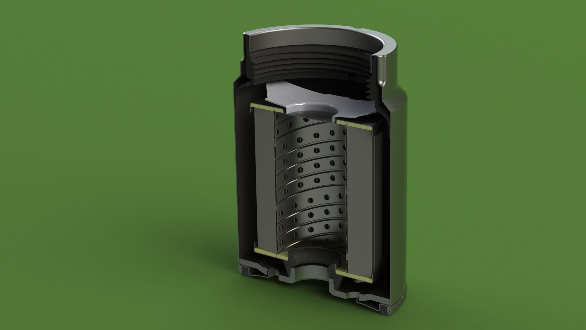 hight resolution of mann pl270 disel fuel filter 3d model