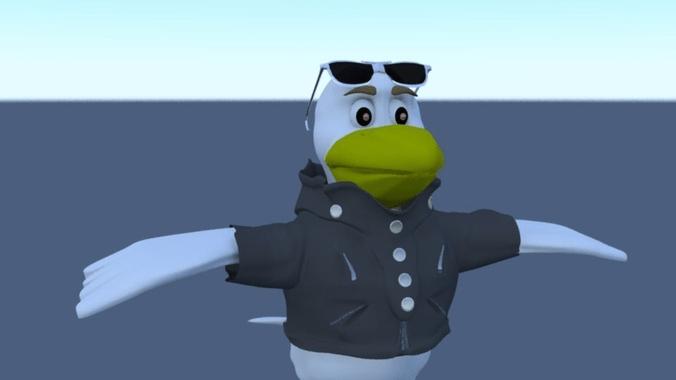 badass bird 3d model