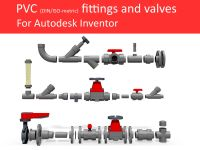 Autodesk Inventor CAD library - Piping No 3 3D Model IPT ...