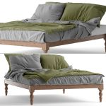 Bohemian Platform Full Bed 3d Model Cgtrader