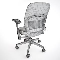 Steelcase Chair Parts Pedicure Spa Chairs Leap Office 3d Model Max Obj Fbx