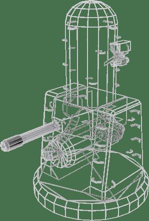 3D model Phalanx CIWS VR / AR / low-poly OBJ 3DS