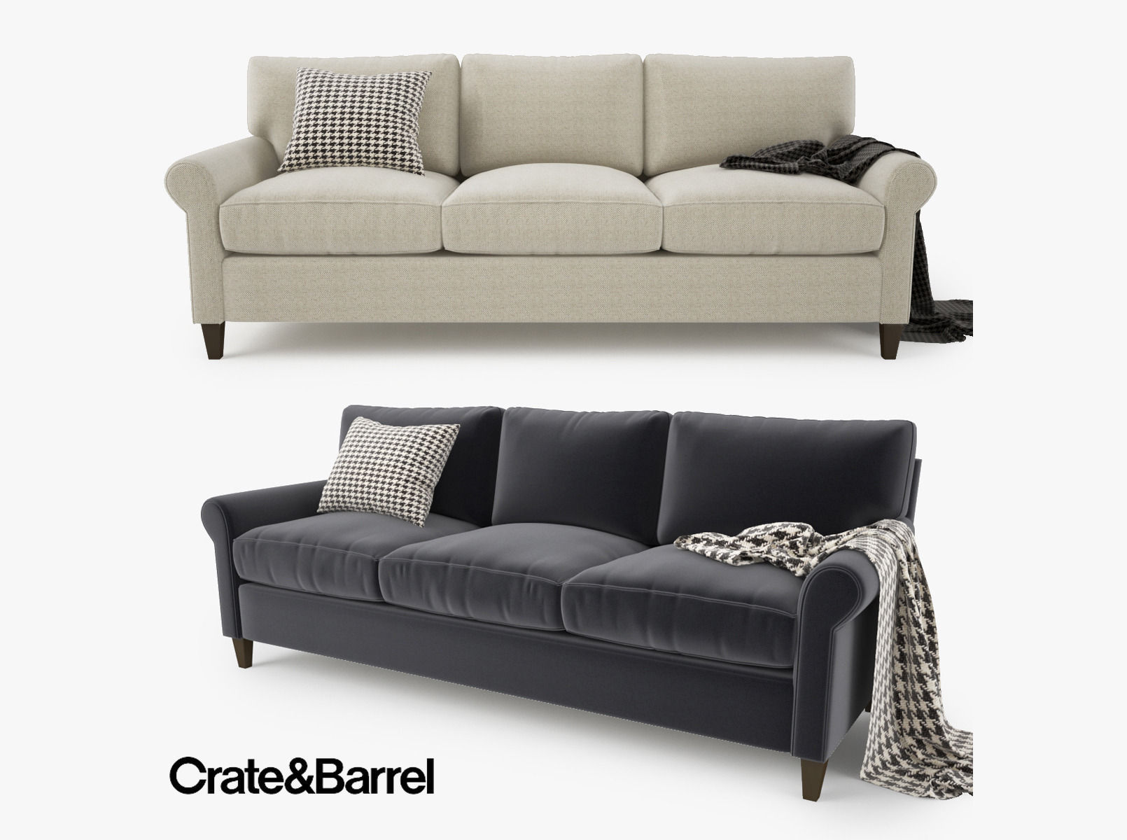 crate and barrel lounge sofa review the best covers sofas ii grey couch reviews ...
