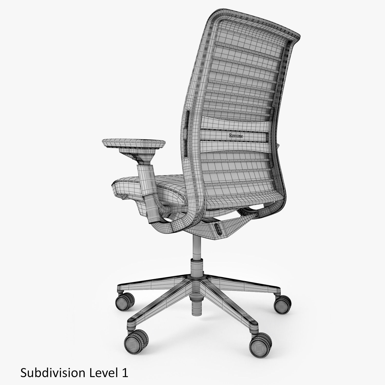 office max chair wholesale covers and sashes for sale steelcase think 3d model obj fbx mtl