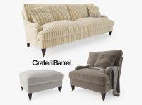 Crate and Barrel Essex Sofa Collection 3D Model MAX OBJ ...