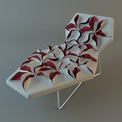 Chair Industrial Design Rolling Chairs Atlantic City Boardwalk Antibodi Moroso Flower 2 3d | Cgtrader